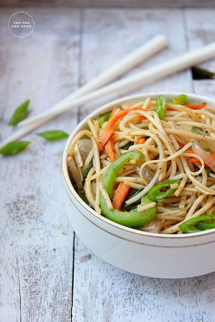 Chinese Noodles | Restaurant Style Vegetable Noodles
