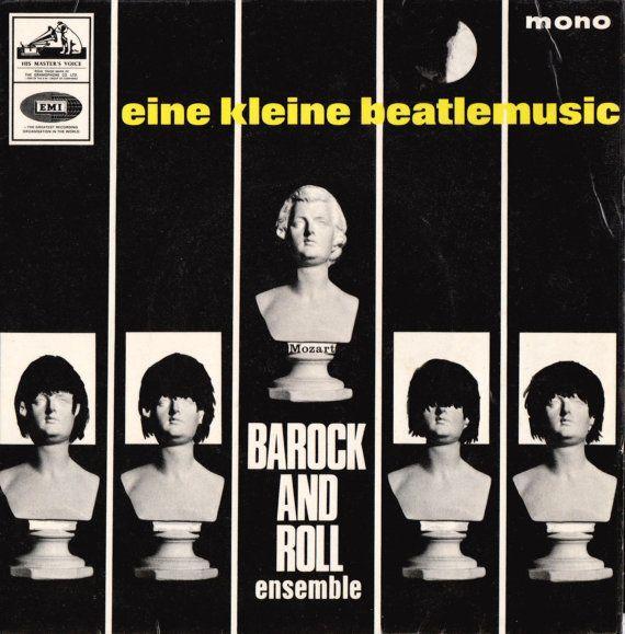 "Barock And Roll Ensemble Eine Kleine Beatle Musik 1965 Uk 7"" 45 rpm Vinyl Record Rock Pop 60s Beatles Classical 7EG8887 Free S&h"