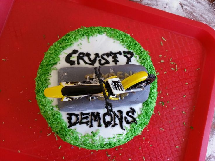 Crusty Demons cake made by me for my stepson's 9th birthday.