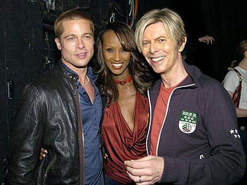 With Brad Pitt & Hubby, David Bowie
