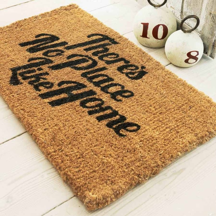 There's No Place Like Home Mat - New Summer Finds - Home Accessories Welcome Mats, Green Doors, New Home Gifts, Decor Ideas, Home Accessories, Doormat, Christmas Decorations, Doors Mats, So True