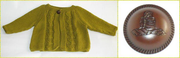 Cardigan Com Painel Bouquet para Rapariga - 100% merino lã superwash.