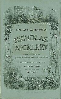 Nicholas Nickleby serial cover 1839