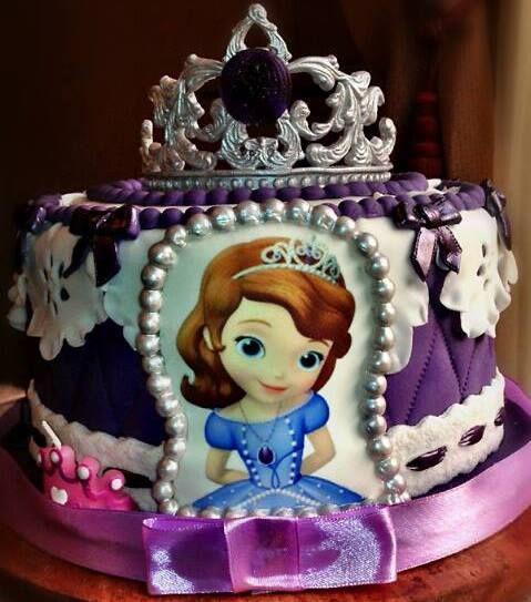 - * Sofia the first birthday cake :)