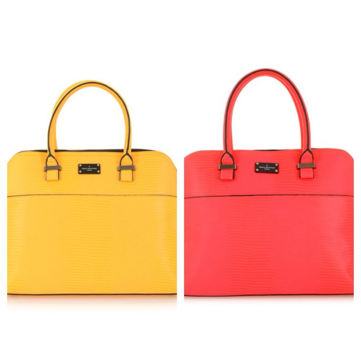 Yellow or coral - which is your colour? Shop the Paul's Boutique Maisy bags (R2199.95) at Stuttafords