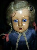 Sehr alte Schildkröt  Puppe No. 20  ca. 75 cm Groß mit Kleid Wert ca 600 Euro