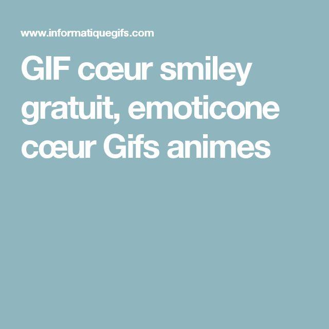 GIF cœur smiley gratuit, emoticone cœur Gifs animes