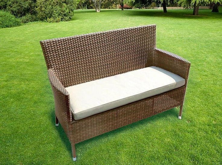 Glencrest Sandringham 2 Seater Bench With Cushion Link Hayesgardenworld