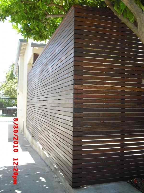 Sleek Modern Slat Fence