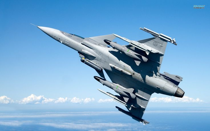 Saab JAS 39 Gripen - The Gripen is a multirole fighter aircraft, designed to be a lightweight and agile aerial platform while incorporating advanced and highly-adaptable avionics systems. In order to deliver a high level of manoeuvrability in conjunction with good short takeoff and landing performance,