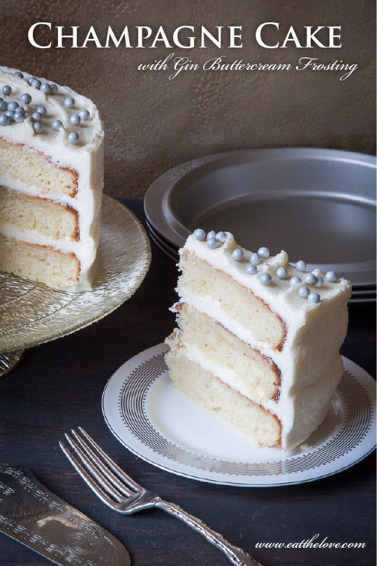 Sponsored Post: Champagne Cake with Gin Buttercream Frosting (PLUS GIVEAWAY!)