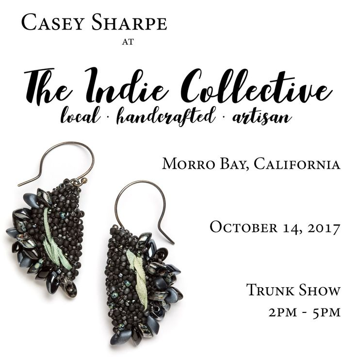 I'm at The Indie Collective in Morro Bay, CA today for a fantastic trunk show - be sure to stop by!