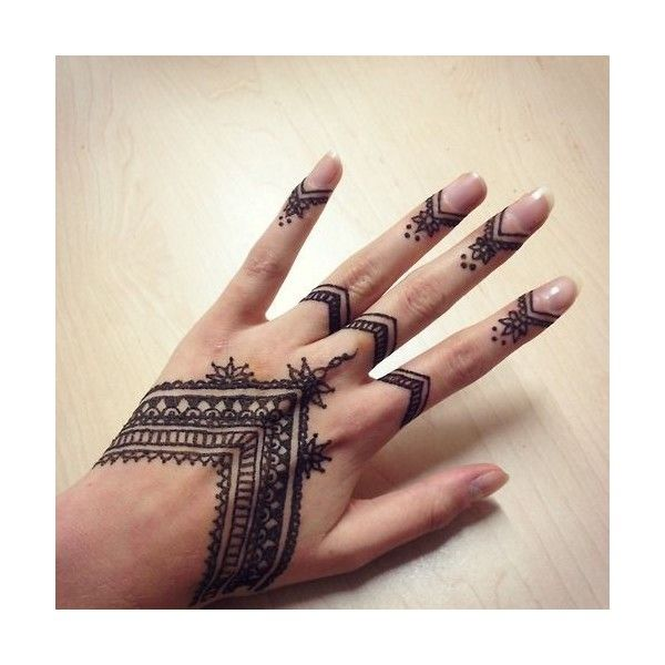 Henna Finger Designs: Pics For > Finger Henna Tumblr Liked On Polyvore Featuring
