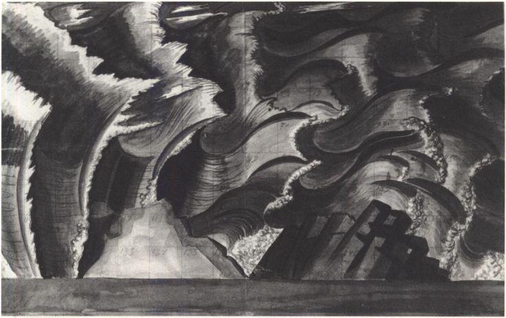 173. «Двенадцатая ночь» В.А. Фаворский. Эскиз Задника. 1933