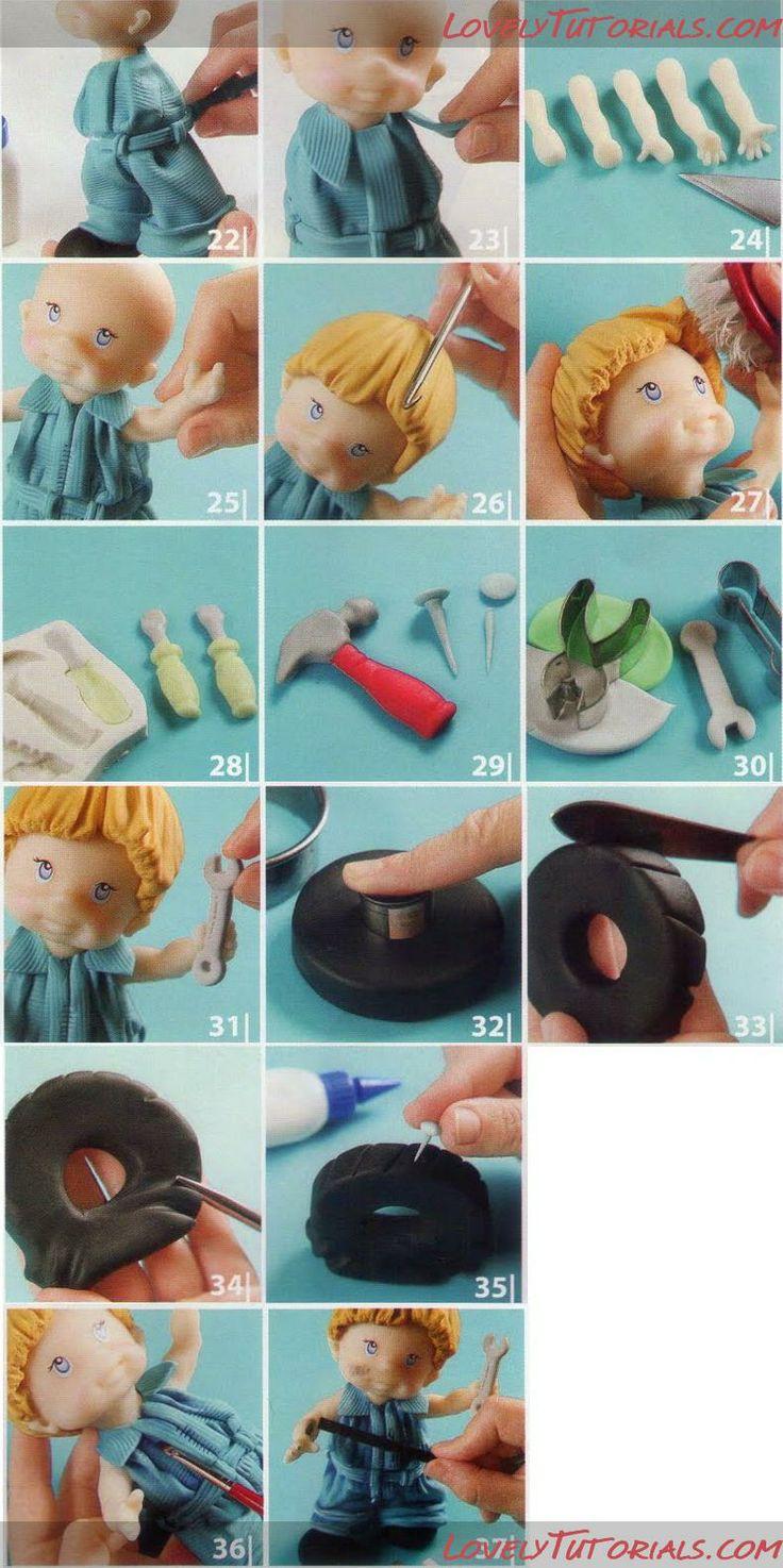 auto-mechanic figurine by Lovely Tutorials