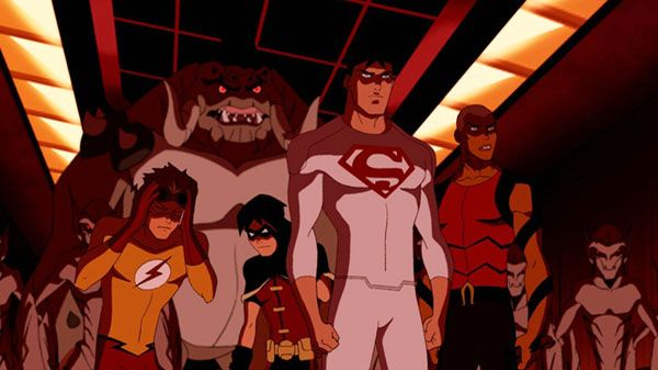 Season 1 Episode 2 Fireworks: Kid Flash, Robin, Superboy ...