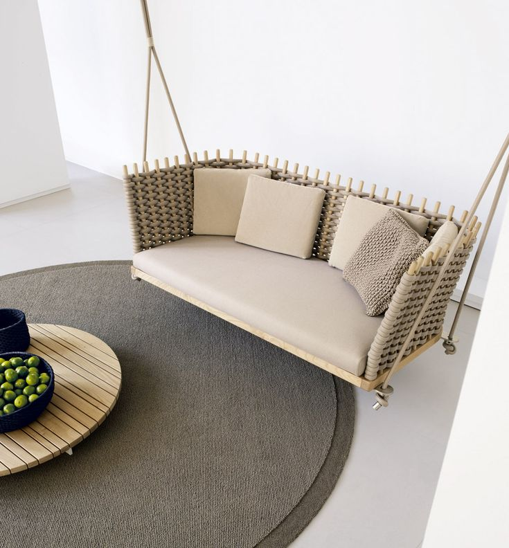 | FURNITURE | looks great in natural. The #Wabi - #PaolaLenti #PorchSwing