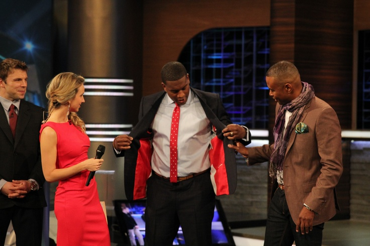 Kevin Weekes shows off some Canadian details in his suit by Marlon Durrant.