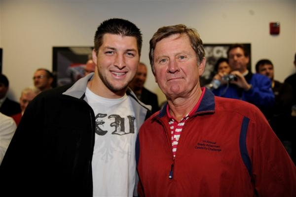 Tim Tebow and Steve Spurrier, both were Heisman winners, and both were awesome GATORS! #Gainesville