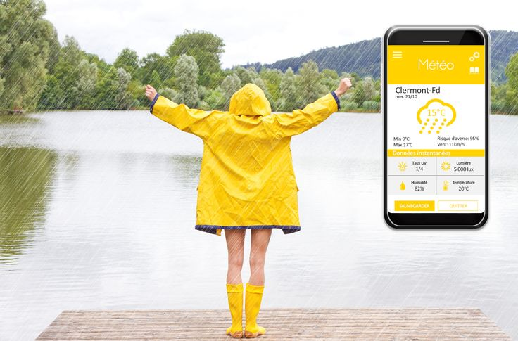 Weather- Know what's really going on around you ! In addition to classic weather forecasts, analyze your immediate environment in just one click! #ctband #app #wearable #meteoapp #hightech