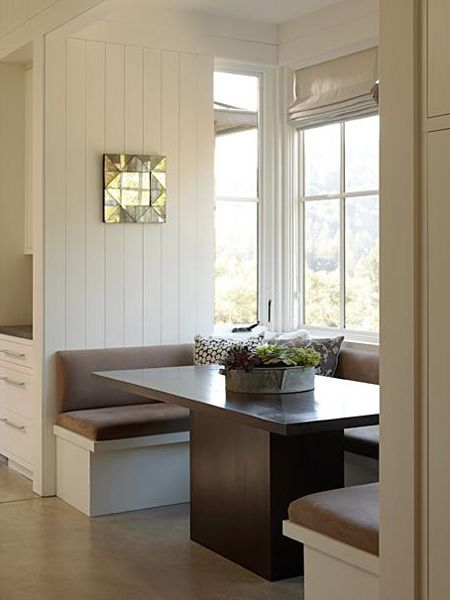 Love the spareness, yet cosiness of this space.Ideas, Summer House, Breakfast Nooks, Kitchens Tables, Future House, Kitchens Nooks, Breakfast Tables, Dining Nooks, Kitchens Booths