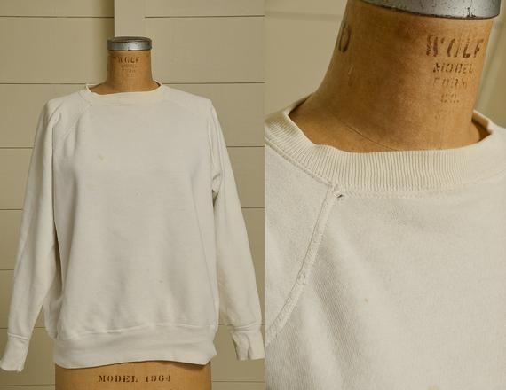 1960s Cotton Sweatshirt Crew Neck White Cotton Athletic Sweatshirt  #50sSweatshirt #Americana #Athletic… | Cotton sweatshirts, White sweatshirt,  Athletic sweatshirts