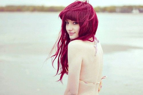 .: Mermaids Hair, Hair Colors, Pink Hair, Red Hair, Haircolor, Magenta Hair, Dark Red, Redhair, Colors Hair