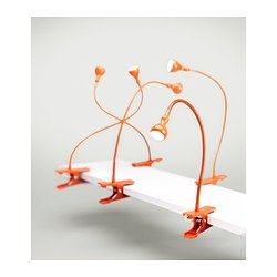 JANSJÖ Spot à pince à LED - orange - IKEA