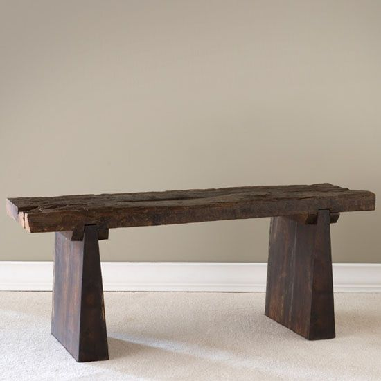 iGreenSpot - The Recycled Railroad Tie Bench Gives New Life To A Discarded Railroad, 6/14/2012