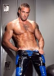 Image result for sexy latex muscle man