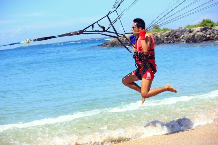 Parasailing in Bali..