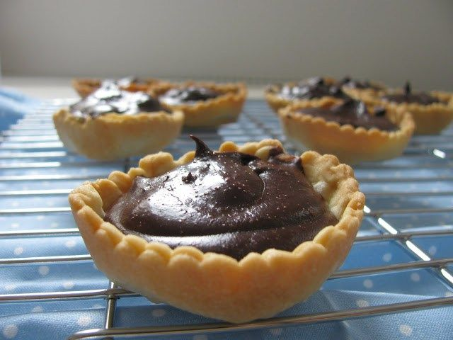 Chocolate Tartlets - small but intensely delicious! -