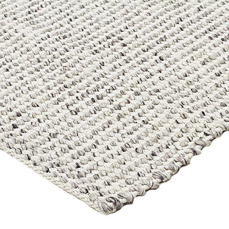 Amalia Chunky Weave Wool Rug, Grey by Rug Culture   Zanui