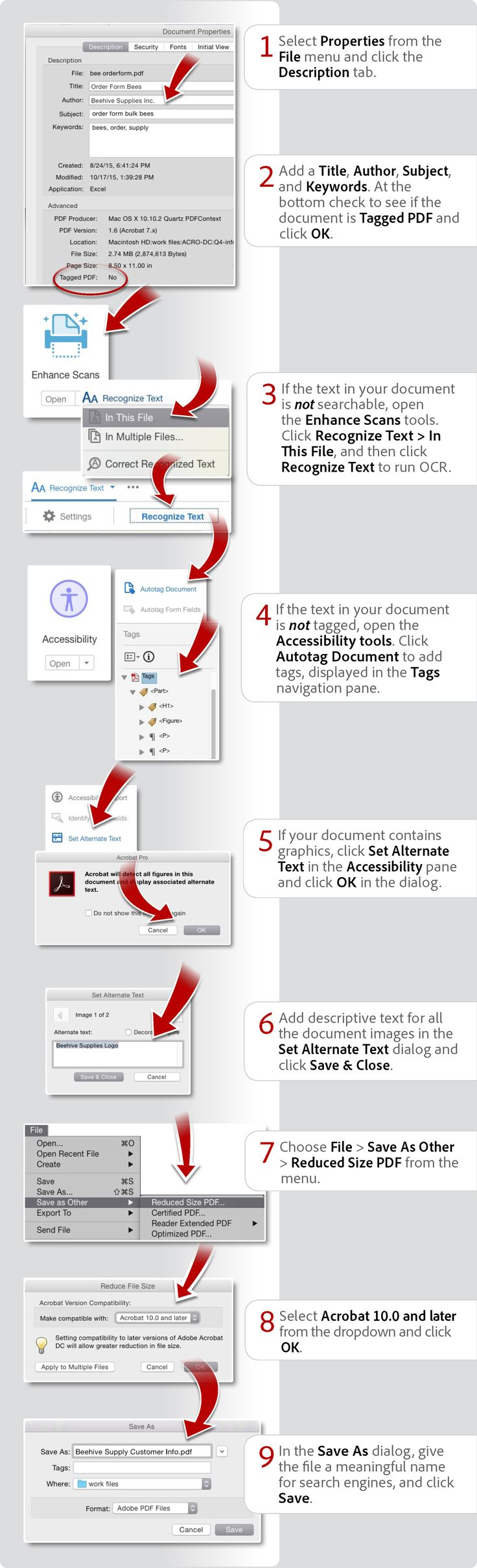 How to optimize a pdf for seo using acrobat pro dc
