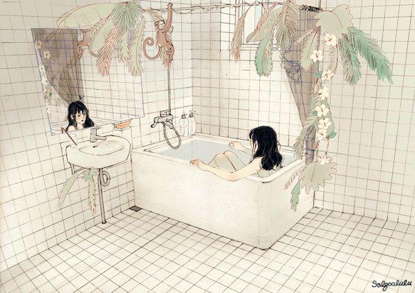 (열대의 욕실 Tropical Bathroom - 1/3)