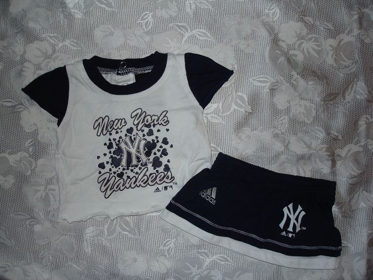 so cute #baby ##girls #adidas  ny new york yankees outfit sz 3-6 mos  summer from $9.95