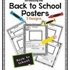 A quick and easy poster for the first day back for the students to fill out and color.  A great way for the students to introduce themselves.  Hang...