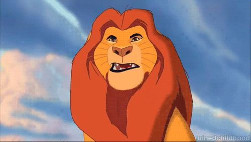 Bye bye Simba. | 18 Horrific Altered Disney GIFs That Will Give You Nightmares