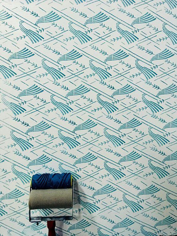 Pattern Paint Roller Wall Decor Rubber Roller Pattern Etsy Patterned Paint Rollers Painting Patterns Paint Roller