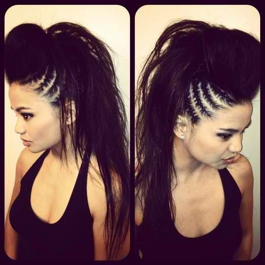 Admirable 1000 Ideas About Black Hair Mohawk On Pinterest Mohawk Hair Hairstyles For Women Draintrainus
