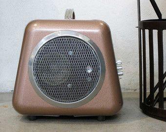 """Diffusori amplificati """"vecchia"""" con bluetooth dell'annata termoventilatore UPCYCLING unico"""