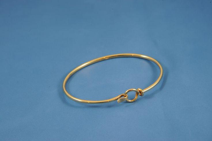 Bracciale rigido in oro rosa, semplicissimo ma prezioso