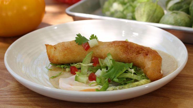 Tortillas de doré frit en tempura, sauce au piment chipotle | Indice UV | ICI Radio-Canada.ca Télé