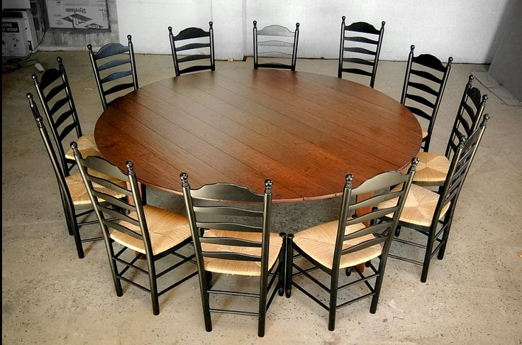 Large Wood Dining Room Tables: Large Round Dining Table 12 Seat