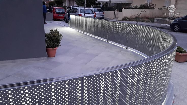 Aluminum perforated balustrades for balcony. Metalaxi Innovative Architectural Products. www.metalaxi.com Life is in the details.