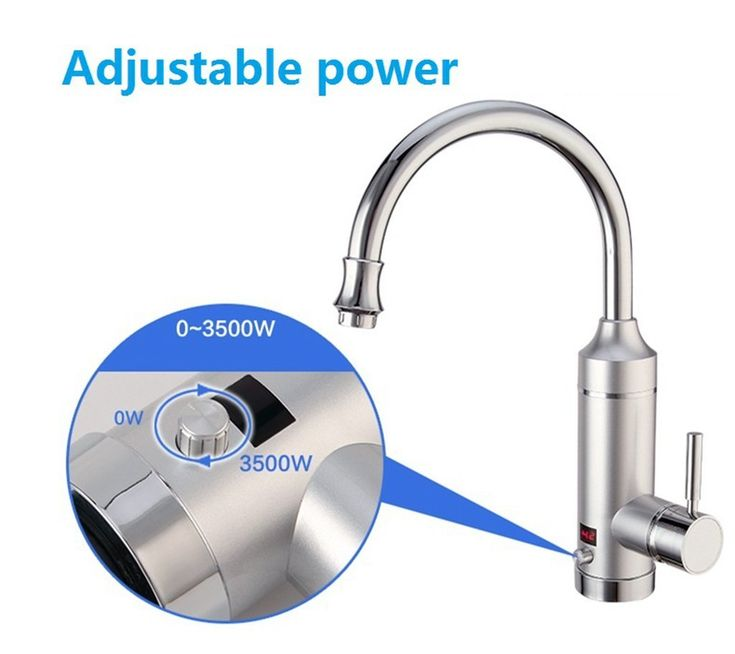 Pudin 220V Adjustable Power Electric Instant Heater Tap,Supply Hot and Cold Water,Hot Water Kitchen Tap With LED Digital Display For Home Facilities(British Plug)(Silver): Amazon.co.uk: DIY & Tools