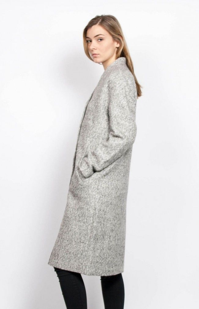 CELINE COAT - oversized and loose-cut coat #anglestore #minimal #coat #grey #wool