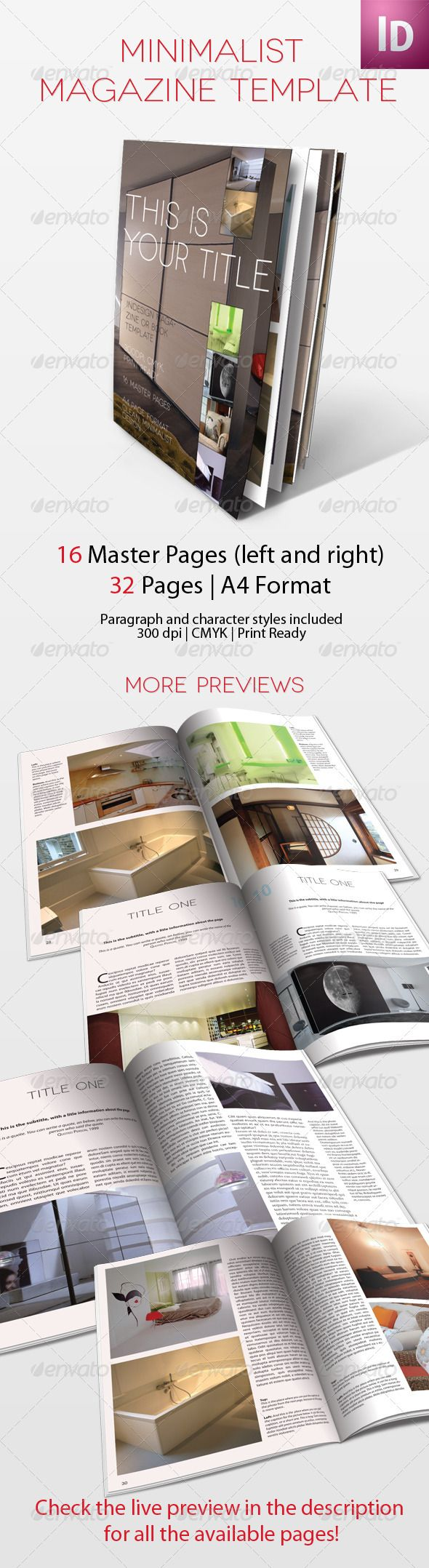 Magazine template minimalist free download notebook for Free architectural magazines