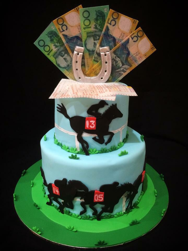 Birthday Cakes Horse Racing Theme