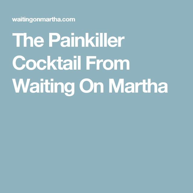The Painkiller Cocktail From Waiting On Martha